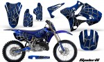 Yamaha YZ125 YZ250 02 12 CreatorX Graphics Kit SpiderX Blue BLB NP Rims 150x90 - Yamaha YZ125 YZ250 2 Stroke 2002-2014 Graphics