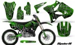 Yamaha YZ125 YZ250 02 12 CreatorX Graphics Kit SpiderX Green BB NP Rims 150x90 - Yamaha YZ125 YZ250 2 Stroke 2002-2014 Graphics