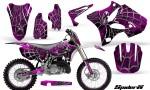 Yamaha YZ125 YZ250 02 12 CreatorX Graphics Kit SpiderX Pink WB NP Rims 150x90 - Yamaha YZ125 YZ250 2 Stroke 2002-2014 Graphics