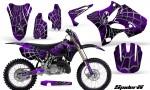 Yamaha YZ125 YZ250 02 12 CreatorX Graphics Kit SpiderX Purple BB NP Rims 150x90 - Yamaha YZ125 YZ250 2 Stroke 2002-2014 Graphics