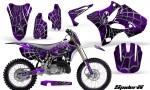 Yamaha YZ125 YZ250 02 12 CreatorX Graphics Kit SpiderX Purple WB NP Rims 150x90 - Yamaha YZ125 YZ250 2 Stroke 2002-2014 Graphics