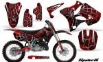 Yamaha YZ125 YZ250 02 12 CreatorX Graphics Kit SpiderX Red BB NP Rims 150x90 - Yamaha YZ125 YZ250 2 Stroke 2002-2014 Graphics