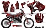 Yamaha YZ125 YZ250 02 12 CreatorX Graphics Kit SpiderX Red WB NP Rims 150x90 - Yamaha YZ125 YZ250 2 Stroke 2002-2014 Graphics