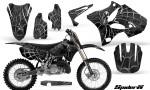 Yamaha YZ125 YZ250 02 12 CreatorX Graphics Kit SpiderX Silver NP Rims 150x90 - Yamaha YZ125 YZ250 2 Stroke 2002-2014 Graphics