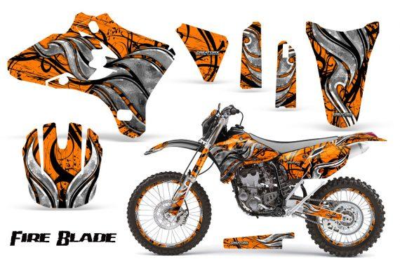Yamaha YZ250 YZ450 03 05 WR250 WR450 05 06 CreatorX Graphics Kit Fire Blade Black Orange BB NP Rims 570x376 - Suzuki Dirt Bike Graphics