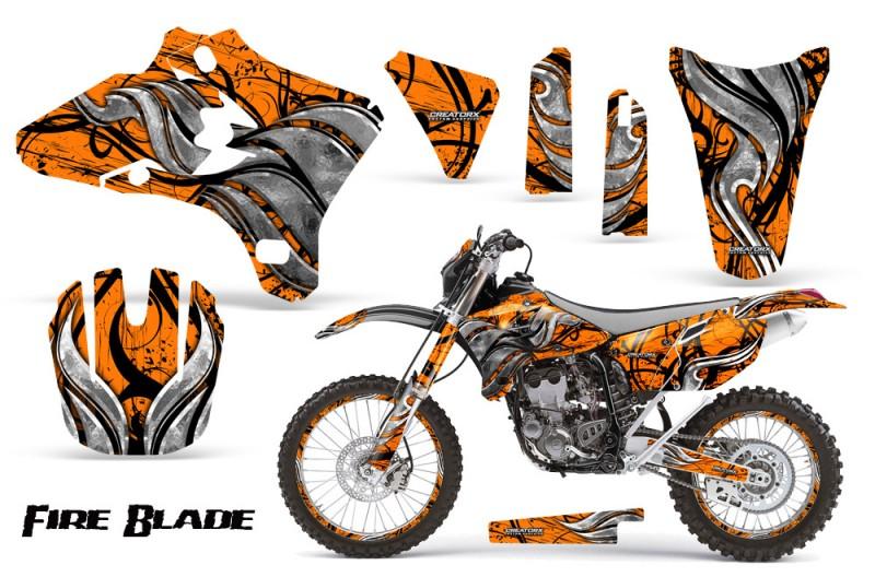 Yamaha-YZ250-YZ450-03-05-WR250-WR450-05-06-CreatorX-Graphics-Kit-Fire-Blade-Black-Orange-BB-NP-Rims