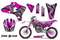Yamaha-YZ250-YZ450-03-05-WR250-WR450-05-06-CreatorX-Graphics-Kit-Fire-Blade-Black-Pink-WB-NP-Rims