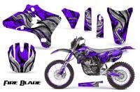 Yamaha-YZ250-YZ450-03-05-WR250-WR450-05-06-CreatorX-Graphics-Kit-Fire-Blade-Black-Purple-NP-Rims