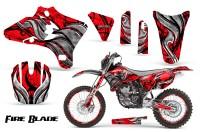 Yamaha-YZ250-YZ450-03-05-WR250-WR450-05-06-CreatorX-Graphics-Kit-Fire-Blade-Black-Red-BB-NP-Rims