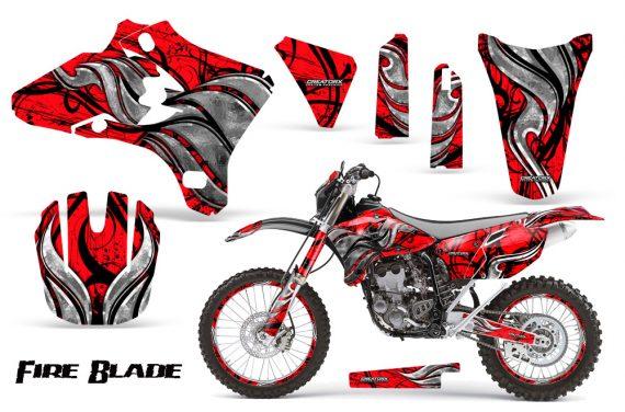 Yamaha YZ250 YZ450 03 05 WR250 WR450 05 06 CreatorX Graphics Kit Fire Blade Black Red BB NP Rims 570x376 - Suzuki Dirt Bike Graphics