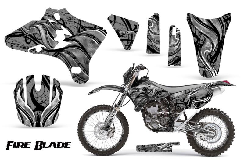 Yamaha-YZ250-YZ450-03-05-WR250-WR450-05-06-CreatorX-Graphics-Kit-Fire-Blade-Black-Silver-BB-NP-Rims