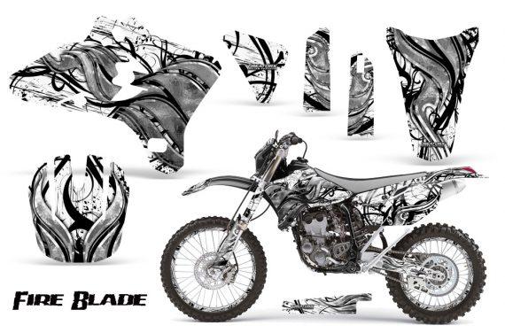 Yamaha YZ250 YZ450 03 05 WR250 WR450 05 06 CreatorX Graphics Kit Fire Blade Black White BB NP Rims 570x376 - Suzuki Dirt Bike Graphics