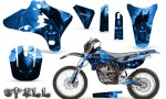 Yamaha YZ250 YZ450 03 05 WR250 WR450 05 06 CreatorX Graphics Kit Spell Blue BB NP 150x90 - Suzuki Dirt Bike Graphics