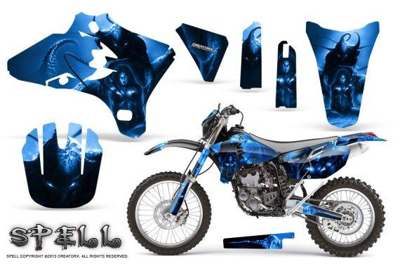 Yamaha YZ250 YZ450 03 05 WR250 WR450 05 06 CreatorX Graphics Kit Spell Blue BB NP 570x376 - Suzuki Dirt Bike Graphics
