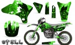 Yamaha YZ250 YZ450 03 05 WR250 WR450 05 06 CreatorX Graphics Kit Spell Green NP Rims 150x90 - Suzuki Dirt Bike Graphics