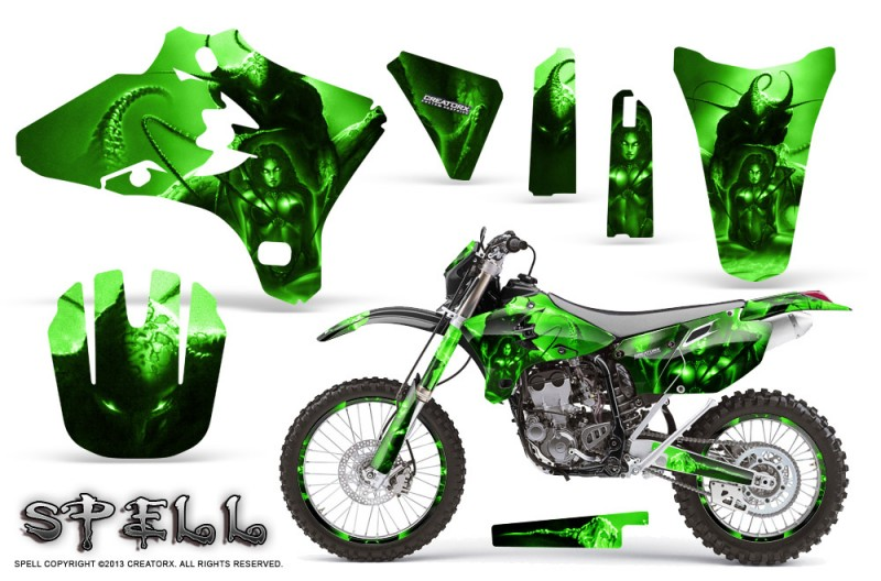 Yamaha-YZ250-YZ450-03-05-WR250-WR450-05-06-CreatorX-Graphics-Kit-Spell-Green-NP-Rims