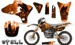 Yamaha YZ250 YZ450 03 05 WR250 WR450 05 06 CreatorX Graphics Kit Spell Orange NP Rims 150x90 - Suzuki Dirt Bike Graphics