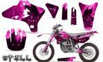 Yamaha YZ250 YZ450 03 05 WR250 WR450 05 06 CreatorX Graphics Kit Spell Pink NP Rims 150x90 - Suzuki Dirt Bike Graphics