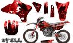 Yamaha YZ250 YZ450 03 05 WR250 WR450 05 06 CreatorX Graphics Kit Spell Red NP Rims 150x90 - Suzuki Dirt Bike Graphics