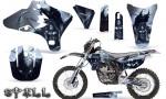 Yamaha YZ250 YZ450 03 05 WR250 WR450 05 06 CreatorX Graphics Kit Spell Silver NP Rims 150x90 - Suzuki Dirt Bike Graphics