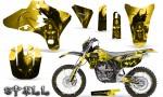 Yamaha YZ250 YZ450 03 05 WR250 WR450 05 06 CreatorX Graphics Kit Spell Yellow NP Rims 150x90 - Suzuki Dirt Bike Graphics