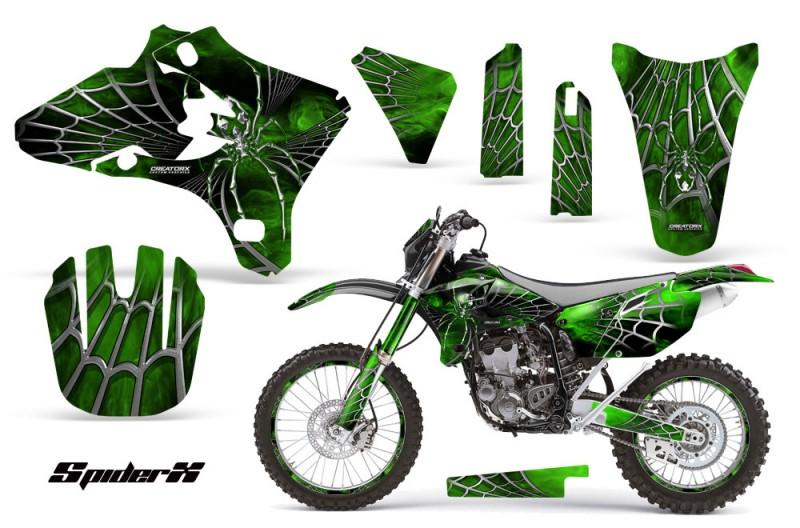 Yamaha-YZ250-YZ450-03-05-WR250-WR450-05-06-CreatorX-Graphics-Kit-SpiderX-Green-BB-NP-Rims