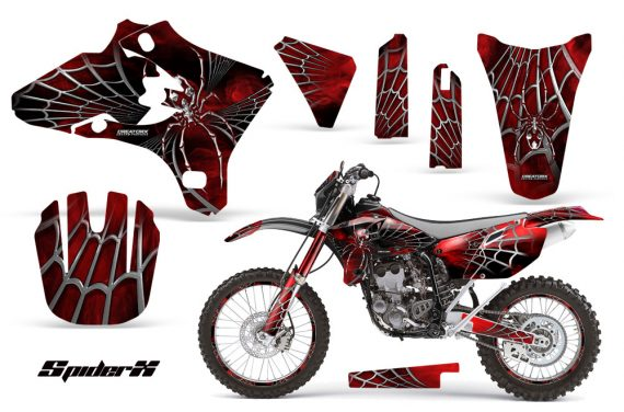 Yamaha YZ250 YZ450 03 05 WR250 WR450 05 06 CreatorX Graphics Kit SpiderX Red BB NP Rims 570x376 - Yamaha WR250F WR450F 2003-2006 Graphics