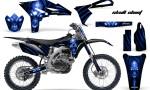Yamaha YZ250F 2010 2012 CreatorX Graphics Kit Skull Chief Blue Black NP Rims 150x90 - Yamaha YZ250F 4 Stroke 2010-2013 Graphics