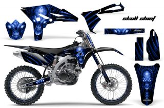 Yamaha YZ250F 2010 2012 CreatorX Graphics Kit Skull Chief Blue Black NP Rims 320x211 - Yamaha YZ250F 4 Stroke 2010-2013 Graphics