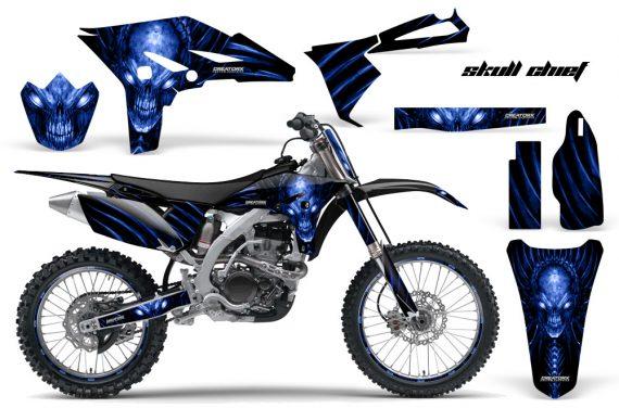 Yamaha YZ250F 2010 2012 CreatorX Graphics Kit Skull Chief Blue Black NP Rims 570x376 - Yamaha YZ250F 4 Stroke 2010-2013 Graphics
