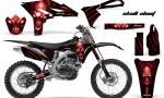 Yamaha YZ250F 2010 2012 CreatorX Graphics Kit Skull Chief Red NP Rims 150x90 - Yamaha YZ250F 4 Stroke 2010-2013 Graphics