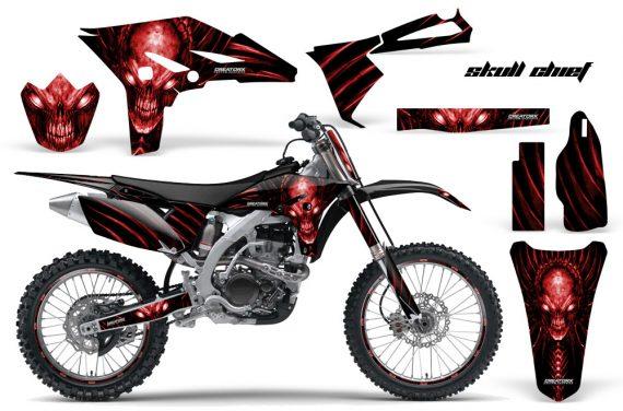 Yamaha YZ250F 2010 2012 CreatorX Graphics Kit Skull Chief Red NP Rims 570x376 - Yamaha YZ250F 4 Stroke 2010-2013 Graphics