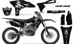 Yamaha YZ250F 2010 2012 CreatorX Graphics Kit Skull Chief Silver NP Rims 150x90 - Yamaha YZ250F 4 Stroke 2010-2013 Graphics
