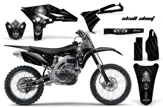 Yamaha YZ250F 2010 2012 CreatorX Graphics Kit Skull Chief Silver NP Rims 570x376 - Yamaha YZ250F 4 Stroke 2010-2013 Graphics