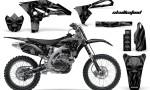 Yamaha YZ250F 2010 2012 CreatorX Graphics Kit Skullcified Black Black NP Rims 150x90 - Yamaha YZ250F 4 Stroke 2010-2013 Graphics