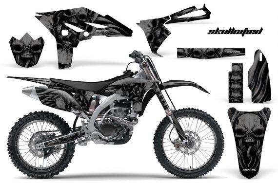 Yamaha YZ250F 2010 2012 CreatorX Graphics Kit Skullcified Black Black NP Rims 570x376 - Yamaha YZ250F 4 Stroke 2010-2013 Graphics