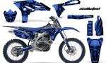 Yamaha YZ250F 2010 2012 CreatorX Graphics Kit Skullcified Blue Flat Blue NP Rims 150x90 - Yamaha YZ250F 4 Stroke 2010-2013 Graphics