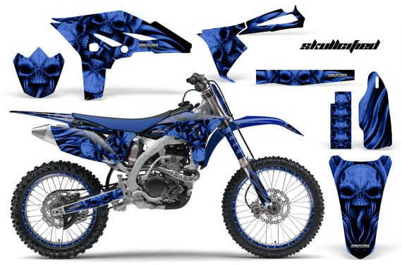 Yamaha YZ250F 2010 2012 CreatorX Graphics Kit Skullcified Blue Flat Blue NP Rims 570x376 - Yamaha YZ250F 4 Stroke 2010-2013 Graphics