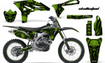 Yamaha YZ250F 2010 2012 CreatorX Graphics Kit Skullcified Green Black NP Rims 150x90 - Yamaha YZ250F 4 Stroke 2010-2013 Graphics