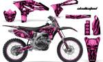 Yamaha YZ250F 2010 2012 CreatorX Graphics Kit Skullcified Pink Black NP Rims 150x90 - Yamaha YZ250F 4 Stroke 2010-2013 Graphics