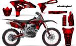 Yamaha YZ250F 2010 2012 CreatorX Graphics Kit Skullcified Red Flat NP Rims 150x90 - Yamaha YZ250F 4 Stroke 2010-2013 Graphics