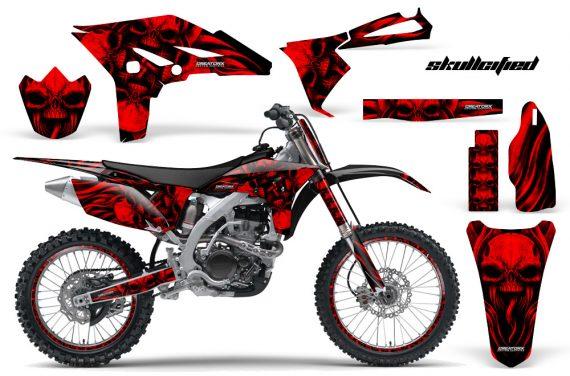 Yamaha YZ250F 2010 2012 CreatorX Graphics Kit Skullcified Red Flat NP Rims 570x376 - Yamaha YZ250F 4 Stroke 2010-2013 Graphics