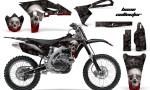Yamaha YZ250F 2010 AMR Graphics Kit BONE COLLECTOR BLACK NP 150x90 - Yamaha YZ250F 4 Stroke 2010-2013 Graphics
