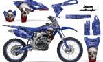 Yamaha YZ250F 2010 AMR Graphics Kit BONE COLLECTOR BLUE NP 150x90 - Yamaha YZ250F 4 Stroke 2010-2013 Graphics