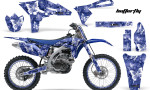 Yamaha YZ250F 2010 AMR Graphics Kit BUTTERFLY WHITE BLUEBG NP 150x90 - Yamaha YZ250F 4 Stroke 2010-2013 Graphics