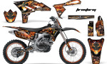 Yamaha YZ250F 2010 AMR Graphics Kit FIRESTORM BLACK NP 150x90 - Yamaha YZ250F 4 Stroke 2010-2013 Graphics