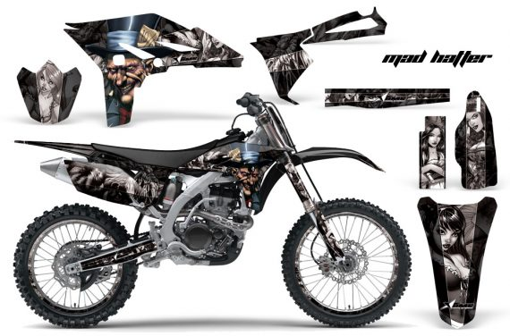 Yamaha YZ250F 2010 AMR Graphics Kit MAD HATTEER BLACK SILVERSTRIPE NP 570x376 - Yamaha YZ250F 4 Stroke 2010-2013 Graphics
