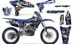 Yamaha YZ250F 2010 AMR Graphics Kit MAD HATTEER BLUE SILVERSTRIPE NP 150x90 - Yamaha YZ250F 4 Stroke 2010-2013 Graphics