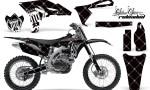 Yamaha YZ250F 2010 AMR Graphics Kit RELOADED WHITE BLACKBG NP 150x90 - Yamaha YZ250F 4 Stroke 2010-2013 Graphics