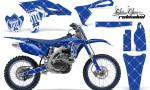 Yamaha YZ250F 2010 AMR Graphics Kit RELOADED WHITE BLUEBG NP 150x90 - Yamaha YZ250F 4 Stroke 2010-2013 Graphics